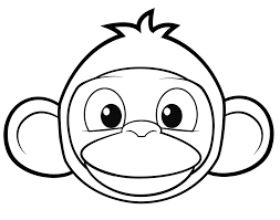 Monkey Face Coloring Page Cartoon Pages