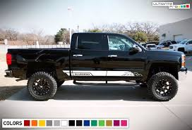 100 Truck Door Decals Decal Sticker Side Stripes For Chevrolet Silverado 20142017 18