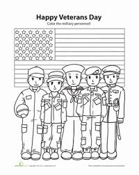 Kindergarten Holidays Seasons Worksheets Happy Veterans Day