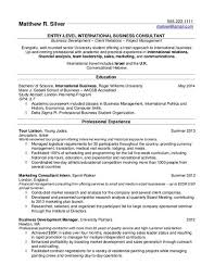 College Student Resume Example Business And Marketing Internship R