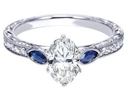 Diamond And Sapphire Engagement Rings Ebay Antique Style
