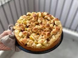saftiger apfel quark kuchen ohne zucker
