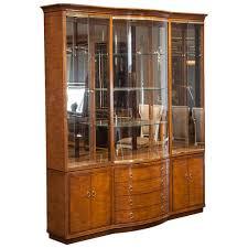 Vintage Drexel Heritage Breakfront Display Cabinet For Sale