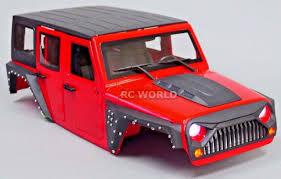 100 Rc Scale Trucks Axial RC Truck Body Shell 110 JEEP WRANGLER RUBICON Hard Body