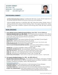 Resume Sample For Welding Inspector Combined With