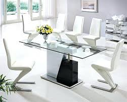 Glass Dining Table Top Sleek Tables White Dinner Room And Concerning