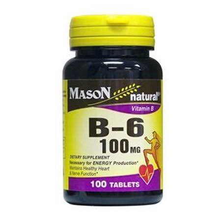 Mason Naturals Vitamin B-6 100mg Tablets - x100