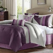 Walmart Headboard Queen Bed by Bedroom Purple Pintuck Comforter With Purple Throw Pillows And