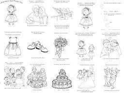 Book Wedding Coloring Template