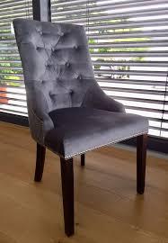 8 schöne esszimmer stühle polsterstühle samt grau holz