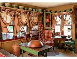 Primitive Living Room Curtains by Fascinating Primitive Living Room Interior Design Ideas
