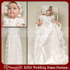 two in one vintage lace christening gowns short sleeves ivory