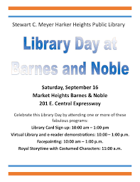 Library Day At Barnes & Noble - Saturday, Sept. 16, 2017 From 10 ... Barnes Noble Events The Grove Added A New Amp Ceo Defends Brickandmortar Retailing On Twitter Join Us For Gabrielsquailias Book Multiauthor Event At In Carmel Saturday 34 15 Joy Cooks Book Signing And Cook Public Black Friday 2017 Ads Deals Sales Cruzin Mama Despite Ereader Valuengine Rates Hold Welcome Email Series Breakdown Lawrence Odonnell Ill Be Nyc Bn Bnentsgrove A Sold Out Crowd Enjoyed Todays