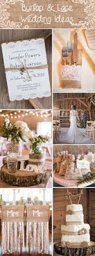 Rustic Burlap And Lace Wedding Ideas Invitations