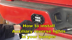 How To Install Auxiliary Reverse Lights In A Bumper - YouTube Lighting Truck Guys Inc 2009 2014 Cree Led Reverse Lights F150ledscom 201518 High Powered Rear Backup Lights Ford F150 Forum Community Of Fans Problem With Back Up House Tuning 60watt Diffused Flood Flush Mount Backup Light Rangerforums The Ultimate Ranger Resource Puddle Side Aux Installed Today Dodgetalk Dodge Car Forums Kc Hilites Lzr Backup System 312