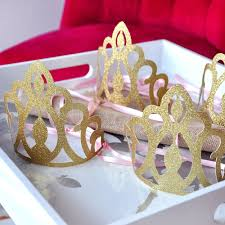 Pink And Gold Birthday Themes by Amazon Com Princess Crowns As Party Favors Pink And Gold