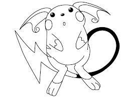 Raichu Pokemon Coloring Pages Free Download