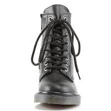 rival womens combat boot gothic military style ankle boot for women