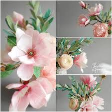 Crepe Paper Flowers Roses Fabric Magic Flower Diy Tutorial Papercraft Arrangements Power