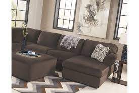 Chocolate Corduroy Sectional Sofa by Jessa Place 3 Piece Sectional Ashley Furniture Homestore