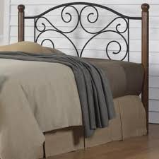 Wrought Iron And Wood King Headboard by Size King Metal Headboards For Less Overstock Com