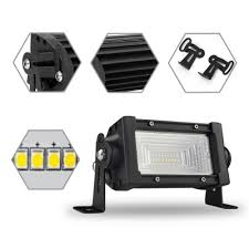 7d 5 inch led work light bar 54w osram 150 degree flood beam for