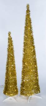 Pull Up Trees With LED Lights 5 And 7 Tinsel Pop