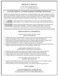 Building Maintenance Resume Examples Of Resumes From Landscaping Duties Sample SourceElegant