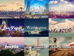 7 Usa Cities Collage
