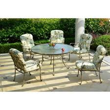 mainstays willow springs 6 piece patio dining set with lazy susan