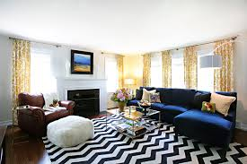 Living Room Decor Ideas With Sectional Transitional Window Treatments Jewel Tone