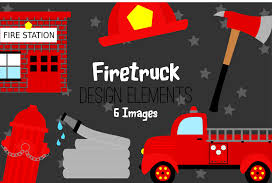 100 Clipart Fire Truck Red Truck Graphics Illustrations