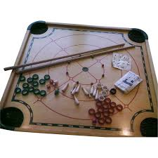 Merdel Carom Board100 Game Set Original Box All Pieces 1960s SOLD