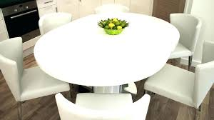 Large Round Pedestal Dining Table Tables Minimalist Room White Extension Modern Furniture Crate And B