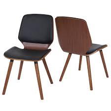 2x esszimmerstuhl hwc b16 holz bugholz retro design walnussoptik kunstleder schwarz