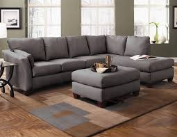 sofa sectional double chaise sofa leather couch with chaise gray