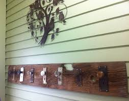 New DIY Coat Rack. Old Barn Board With Antique Door Knobs Screwed ... 25 Unique Barn Wood Crafts Ideas On Pinterest Best Board Decor Projects Rustic Hall Trees Farmhouse Wood Mirror Matthew Colleens Blog Old Fence Boards Made Into A Head I Love It So Going To 346 Best Sheet Metal Images Balcony 402 Unique Framing Ideas Picture Frame Trim My House Stardust Designs Wall How To Create Weathered Barnwood Look With This Inexpensive Old Barn