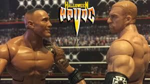 Wcw Halloween Havoc 1991 by Wfw Triple H Vs The Rock Wfw Title Match Halloween Havoc