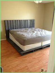 Pallet Bed Frame by How To Make A Pallet Bed Frame With Storage The Best Of Bed