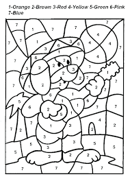 Coloring Numbers For Kindergarten Color By Number Printable Pages As Nice