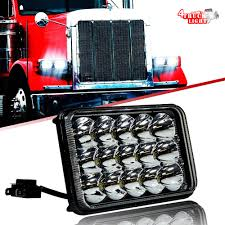 100 Semi Truck Parts And Accessories 1PC 4X6 LED Headlight For Western Star 4900 Peterbilte