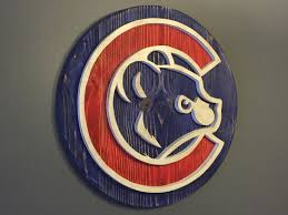 Big Ang Mural Chicago by Custom Chicago Cubs Hand Scrolled Wood Logo 3d Wall Art By