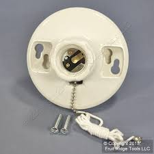 Porcelain Lamp Socket Pull Chain by Cooper Porcelain Ceiling Lampholder Pull Chain Light Socket 250w 4