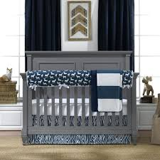 Navy And Grey Crib Bedding Navy Gray And White Crib Bedding Navy