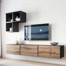 wohnwand teodor vi wohnzimmer set regal tv lowboard