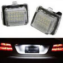 w204 c216 w212 oem replace led license plate lights