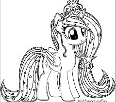 E4259 My Little Pony Unicorn Coloring Pages Regular Printable Realistic