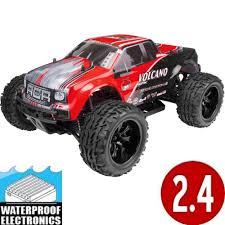100 Red Monster Truck NEW Cat Racing Volcano Epx 110 Scale Electric