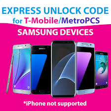 MetroPCS T Mobile Unlock Code for all Samsung devices Express