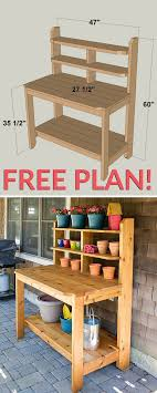 How To Build A Potting Bench (FREE-plan)   The Secret Garden ... Backyards Fascating 25 Best Ideas About Backyard Projects On Stunning Inspiring Outdoor Fire Pit Areas Gardens Projects Ideas On Pinterest Patio Fniture Decorations Handmade Garden Bystep Itructions For Creative Pin By Cathy Kantowski The Diy And Top Rustic Pits House And 67 Best Long Short Term Frontbackyard Images Diy Home